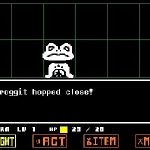 UNDERTALE: Complete fight against Froggit